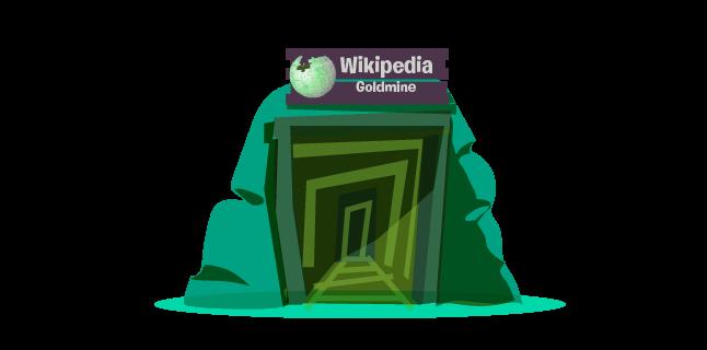 Wikipedia as gold mine