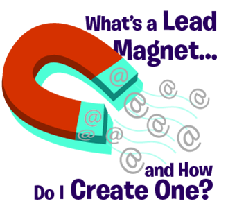 Magnet attracting @ symbols representing email addresses - what's a lead magnet? how to create lead magnet