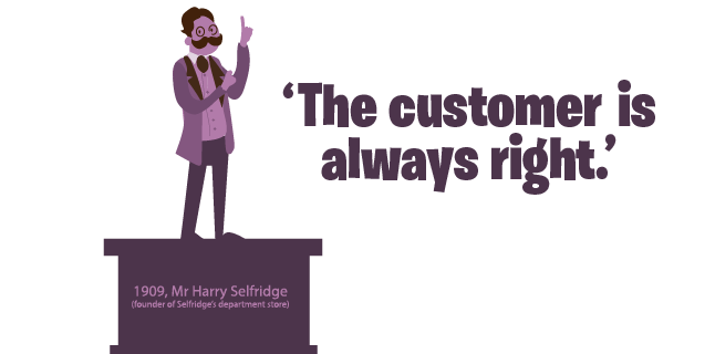 Harry Selfridge 'Customer is always right