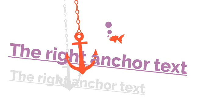 the right anchor text