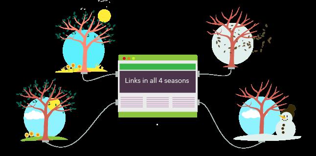 links in all 4 seasons