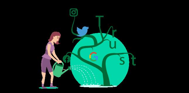 social media builds trust