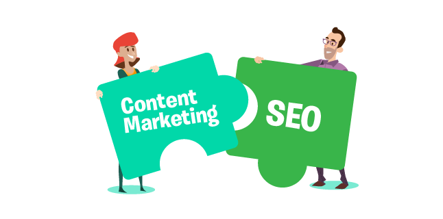 Image: content marketing and SEO go hand-in-hand