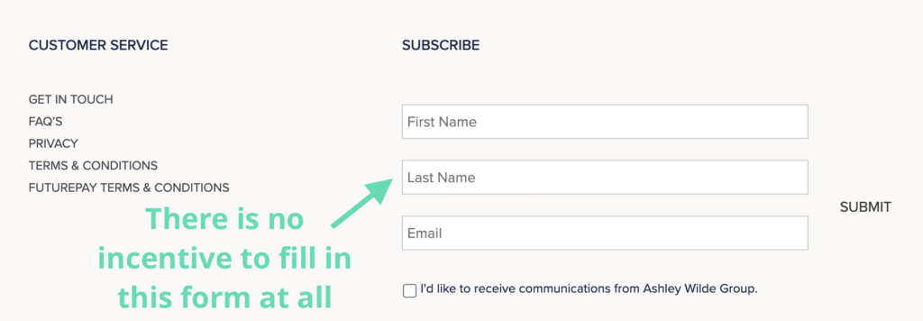 Subscribe Form Example
