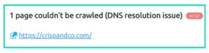 DNS error