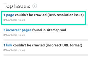site issue errors