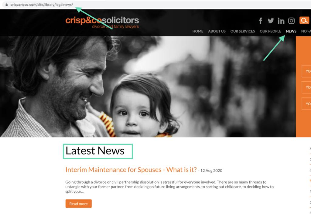 Crisp & Co Website Blog