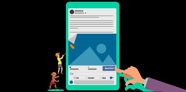 Image: Boosting a Facebook image post