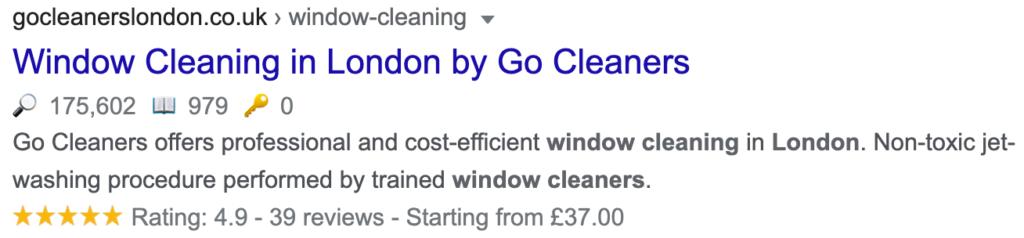 Go Cleaners Website Description