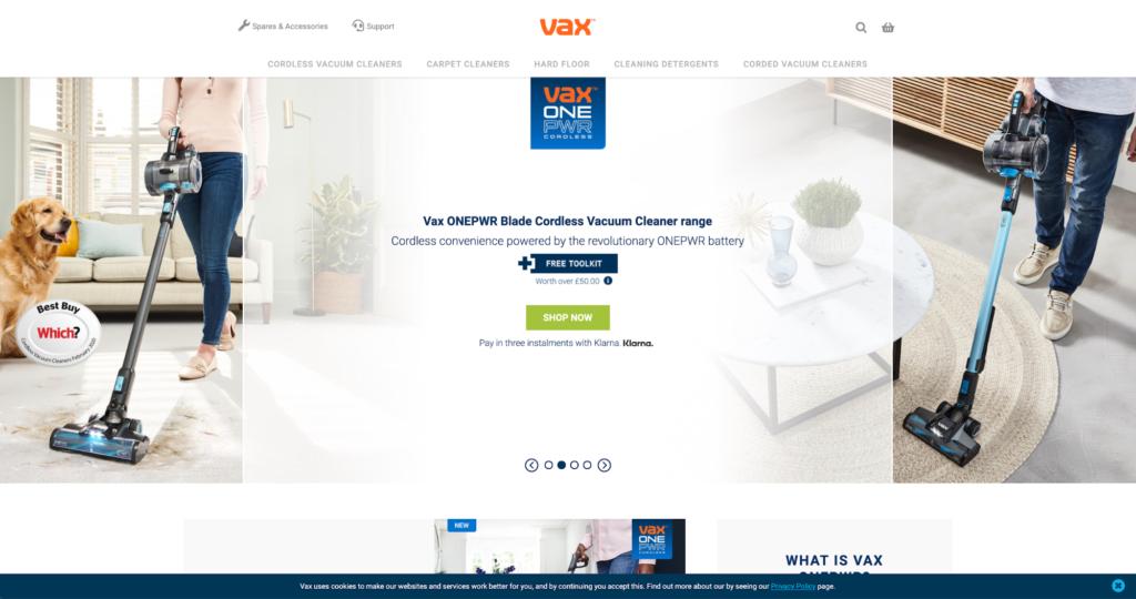 Vax Homepage