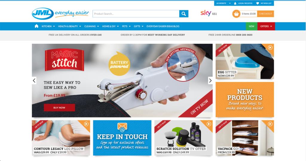 JML Direct Homepage