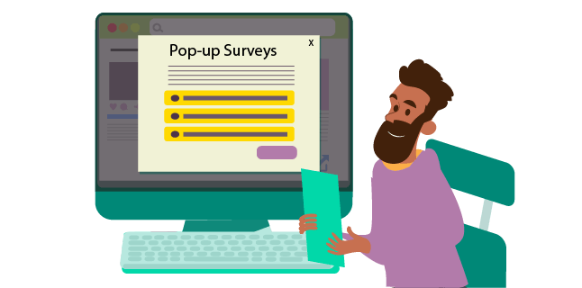 Image: Using pop-up surveys to find out what your customer thinks