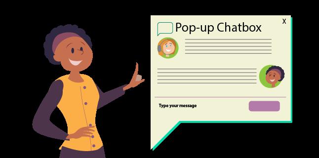 Image: Pop-up chat box