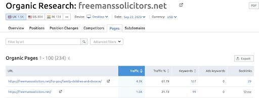 Freemans solicitors marketing legal firms content
