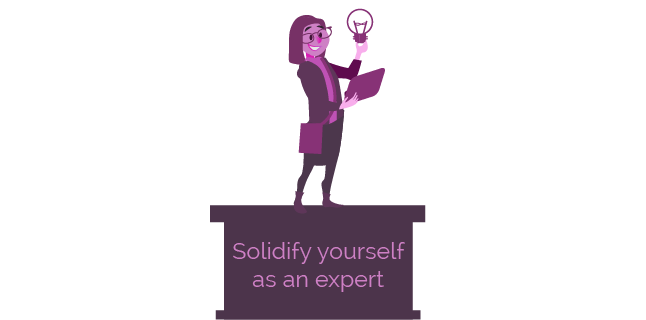 Image: solidify yourself as an expert
