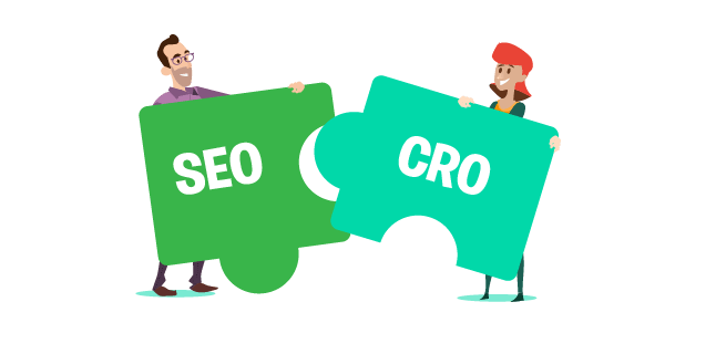 Image: SEO and CRO working together hand-in hand