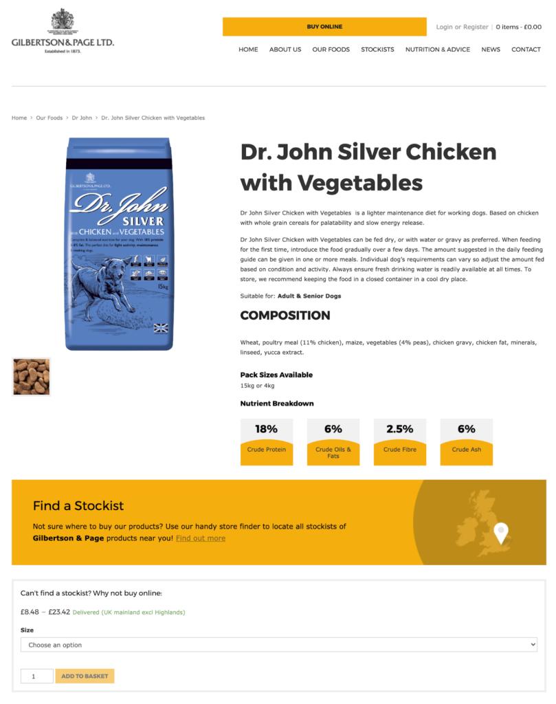 product page gilpa.co.uk