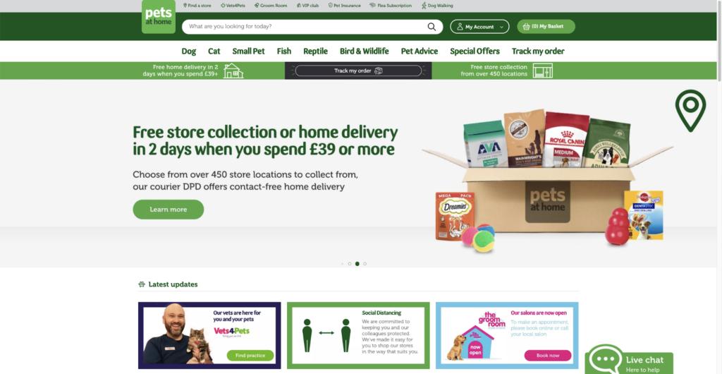 PetsAtHome Uk Website Screenshot