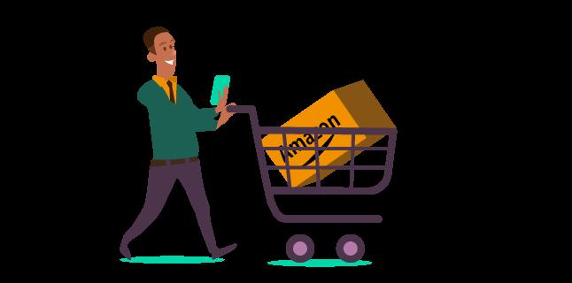 Image: shopping via a mobile phone