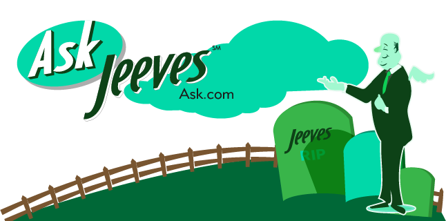 Image: No more 'Ask Jeeves'