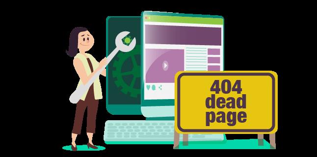 Image: 404 dead page