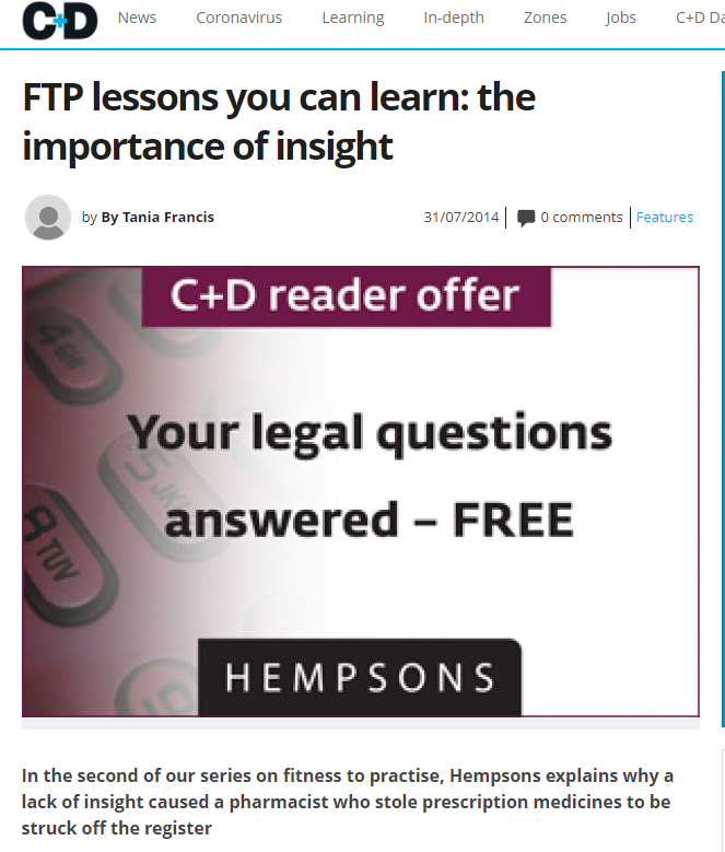 non legal guest post hempsons chemist and druggist
