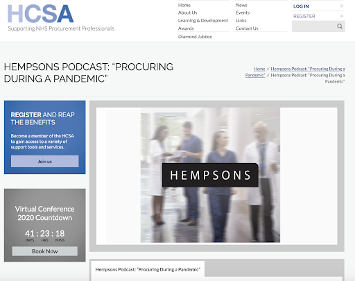 Hempsons podcast - legal content marketing example
