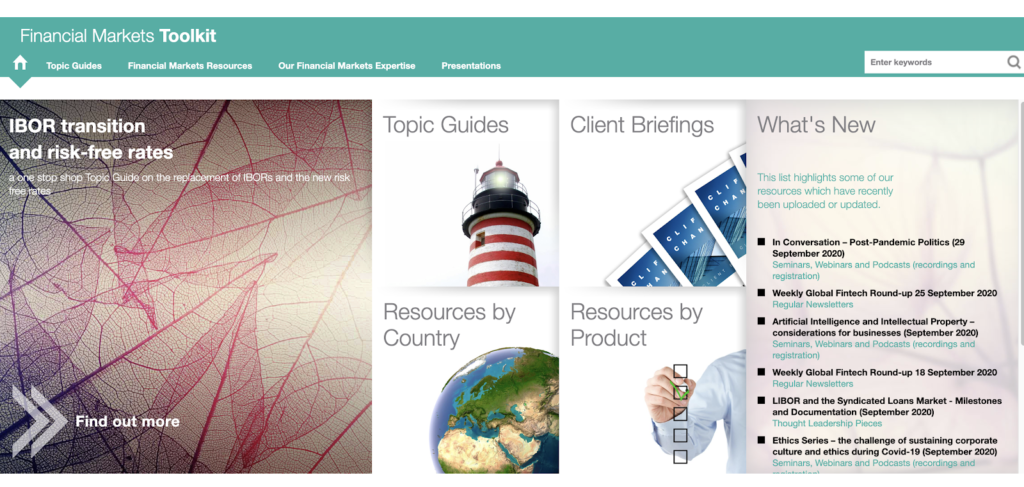 Clifford Chance Financial Markets Toolkit