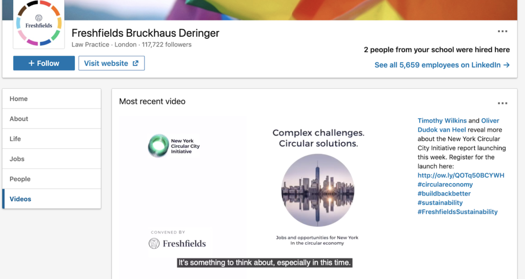 Freshfields Bruckhaus Deringer social media