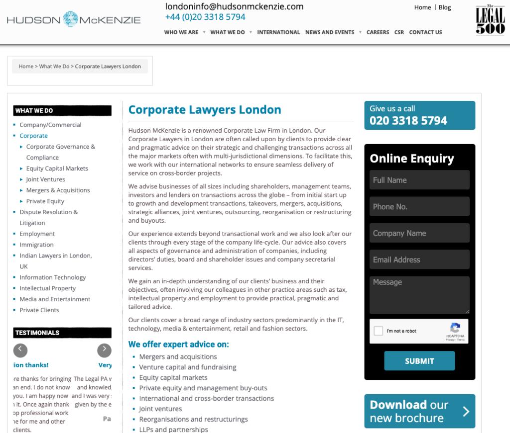 Hudson McKenzie Homepage