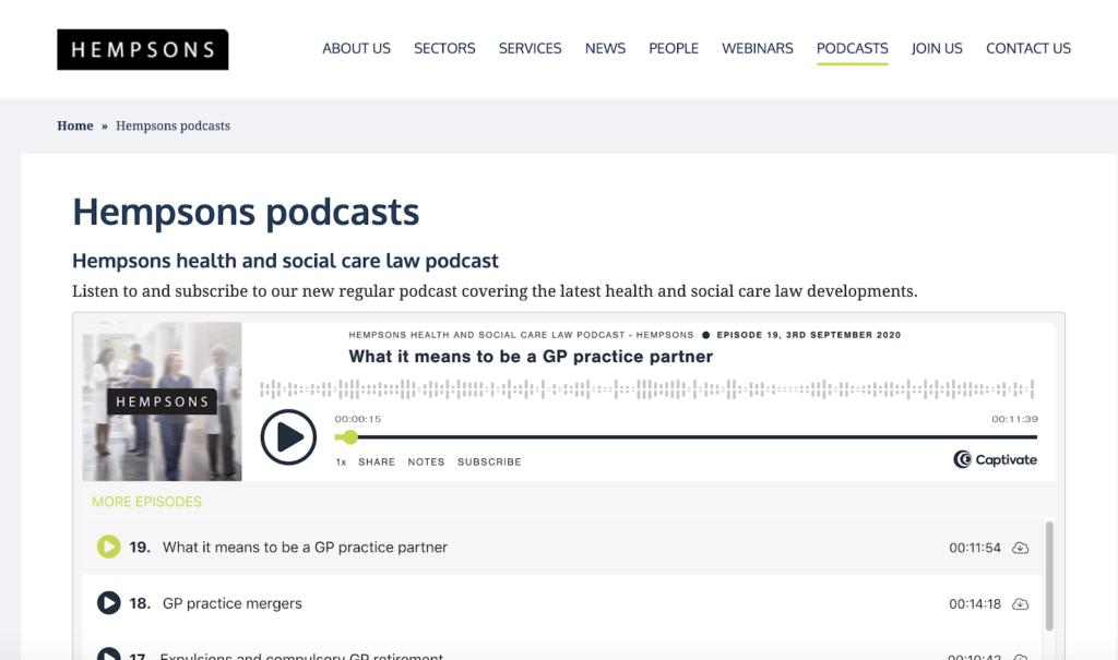 Hempsons Podcast
