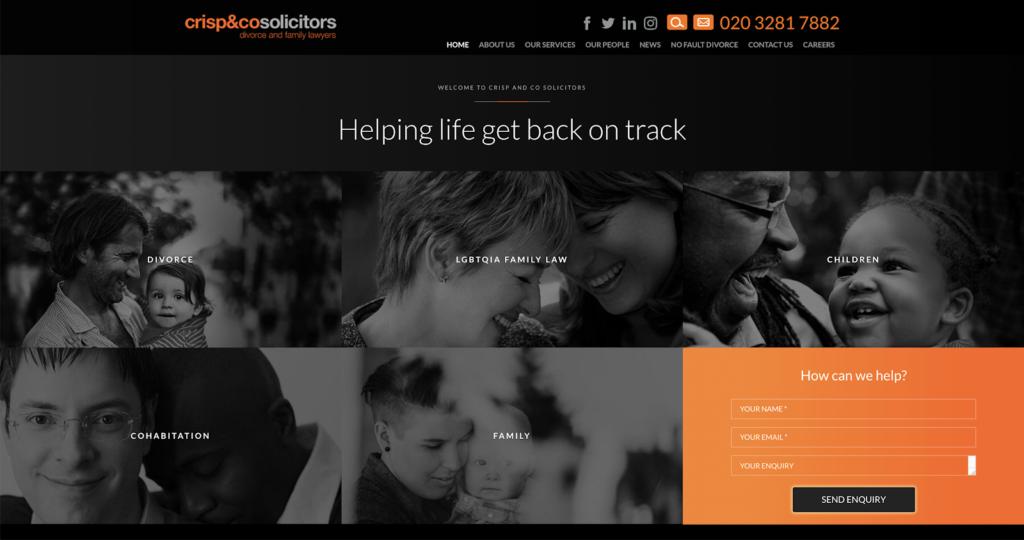 Crisp & Co Website Homepage