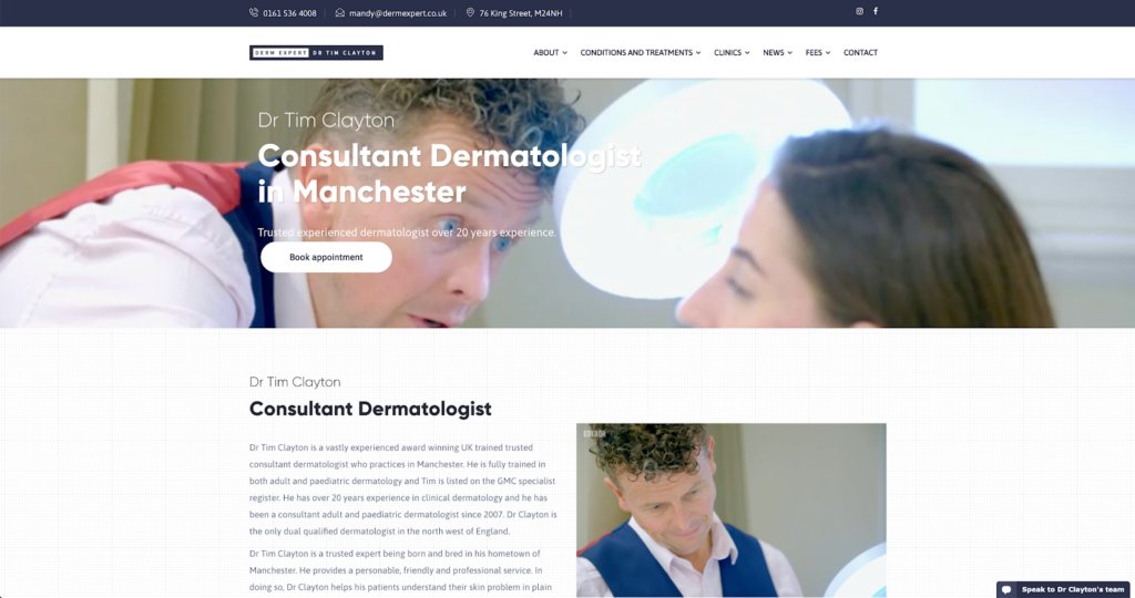 Derm Expert dermatology manchester homepage