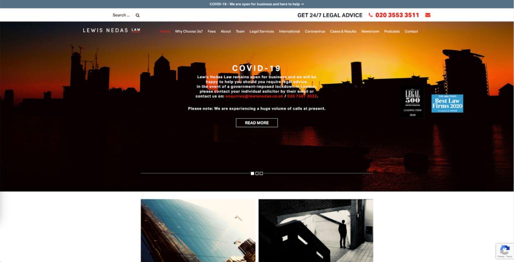 Lewis Nedas Homepage