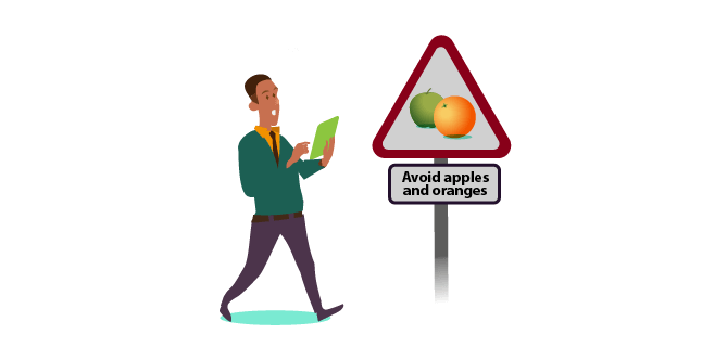 Image: Avoid apples and oranges