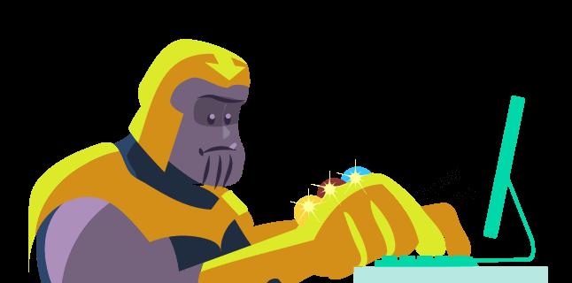 Image: Thanos as a writer