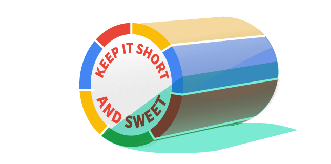 Image: Keep it short and sweet