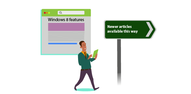 Image: Direct readers to more up-to-date articles