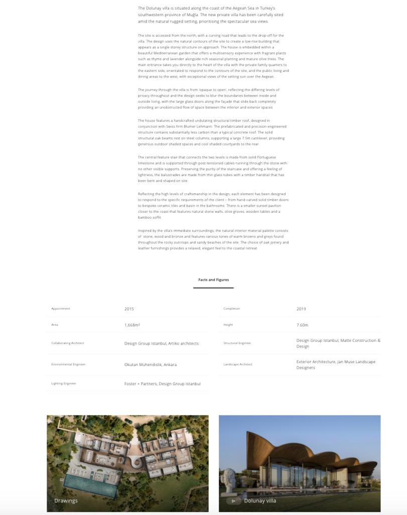 Content marketing for architects example -Portfolio