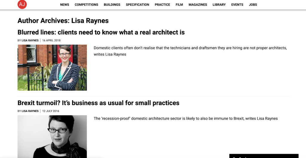 Guest blog lisa raynes for Pride Rd architects