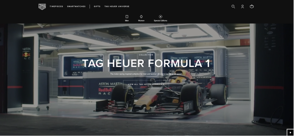 tag heuer Formula 1 collection page