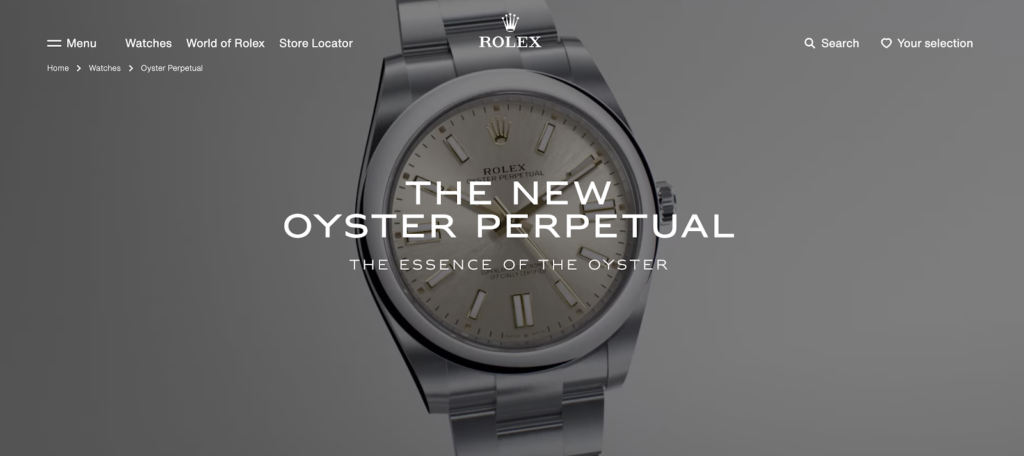 video of a collection by Rolex