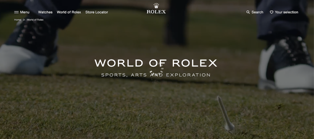 world of rolex landing page video