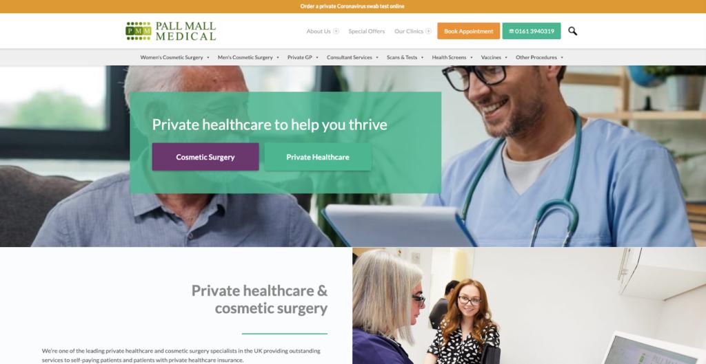 Pall Mall Medical website