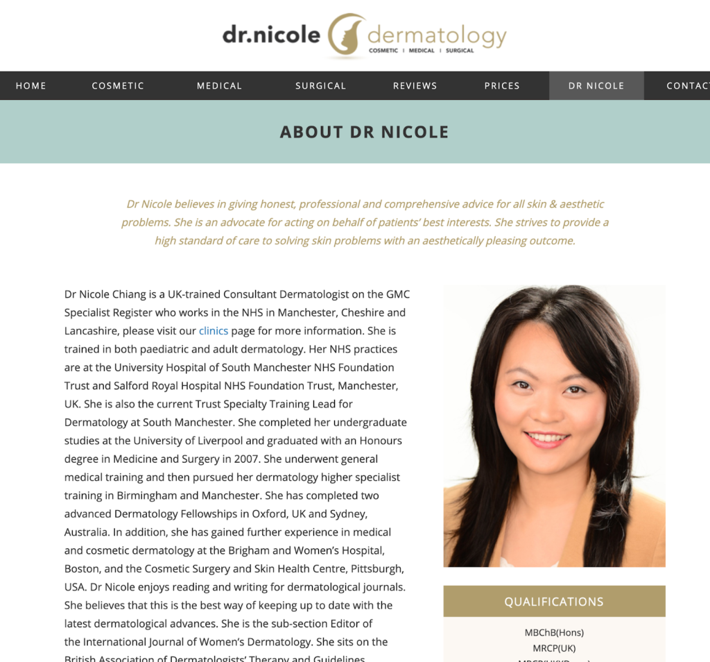 About Dr Nicole