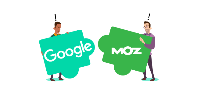 Image: Google and Moz don't always work together