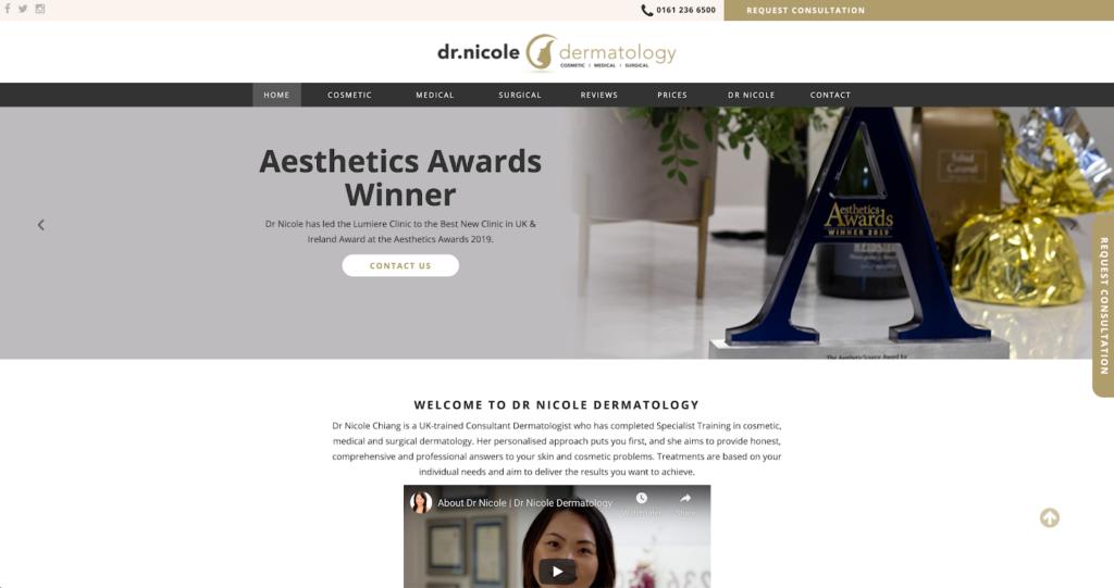 Dr Nicole Dermatology website