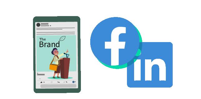 Image: Boost social media posts in Facebook/Instagram and Sponsor posts on LinkedIn