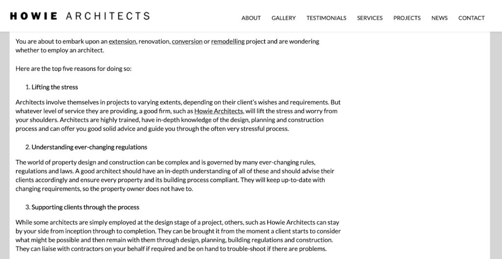 article by howie architects (from content lessons architecture firms)