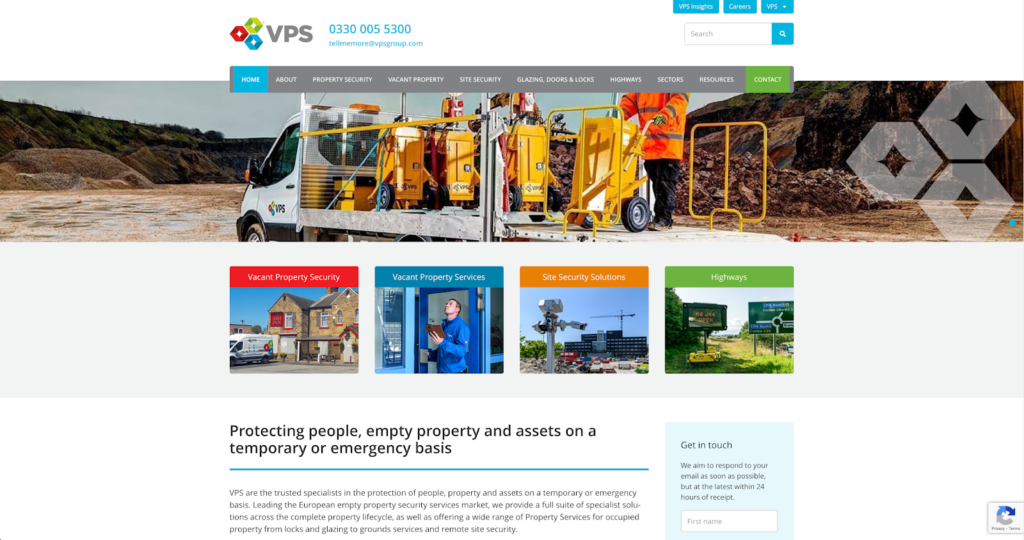VPS Group homepage